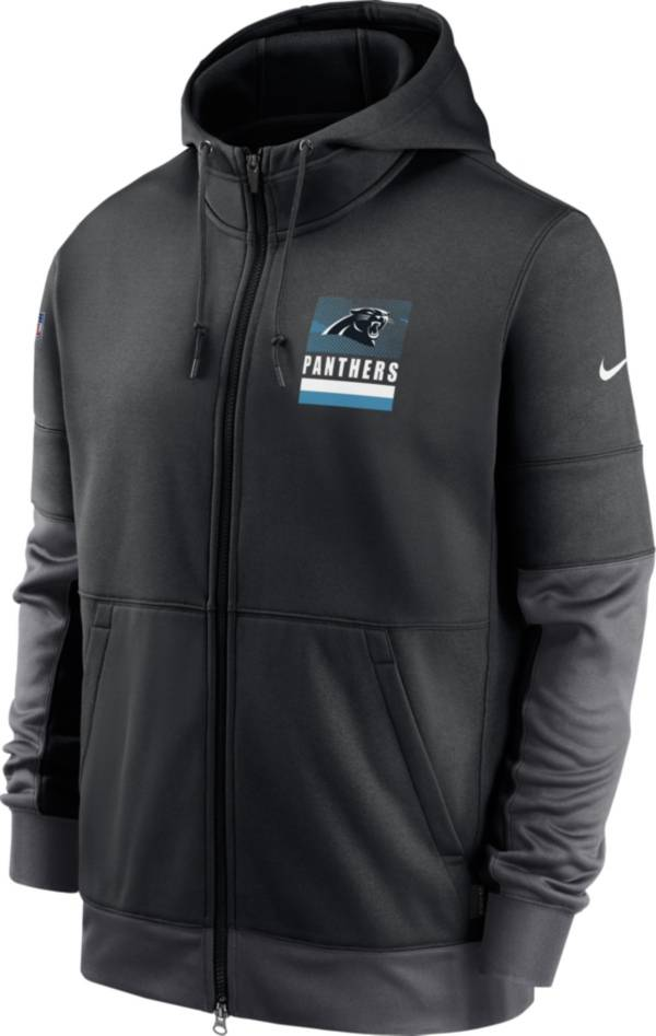 Nike Men's Carolina Panthers Sideline Lock Up Full-Zip Black Hoodie product image