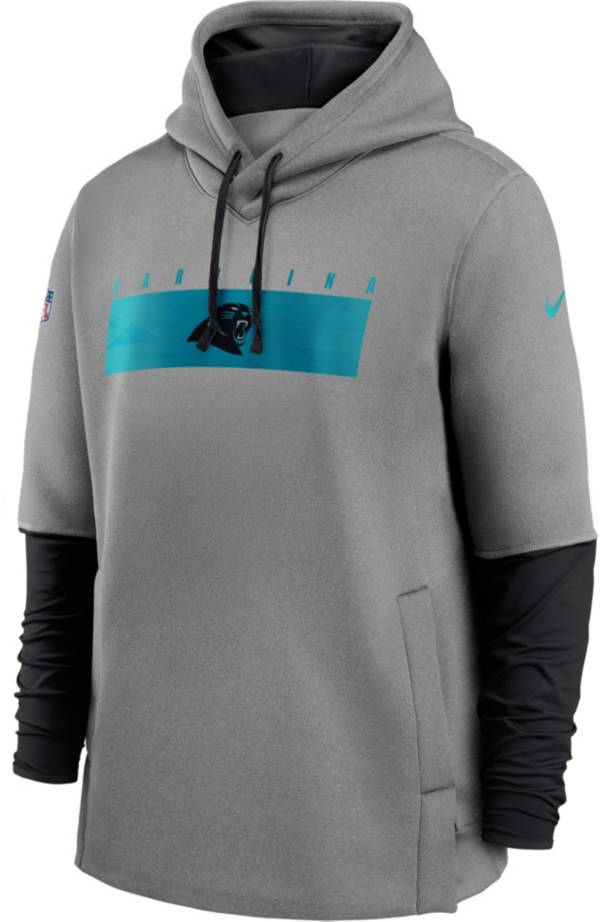 Nike Men's Carolina Panthers Sideline Therma-FIT Heavy Grey Hoodie product image