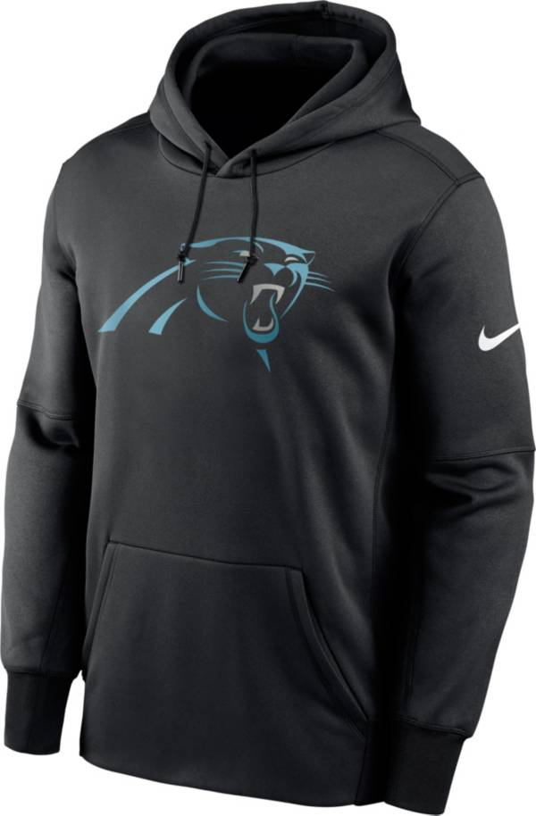 Nike Men's Carolina Panthers Sideline Therma-FIT Black Pullover Hoodie product image