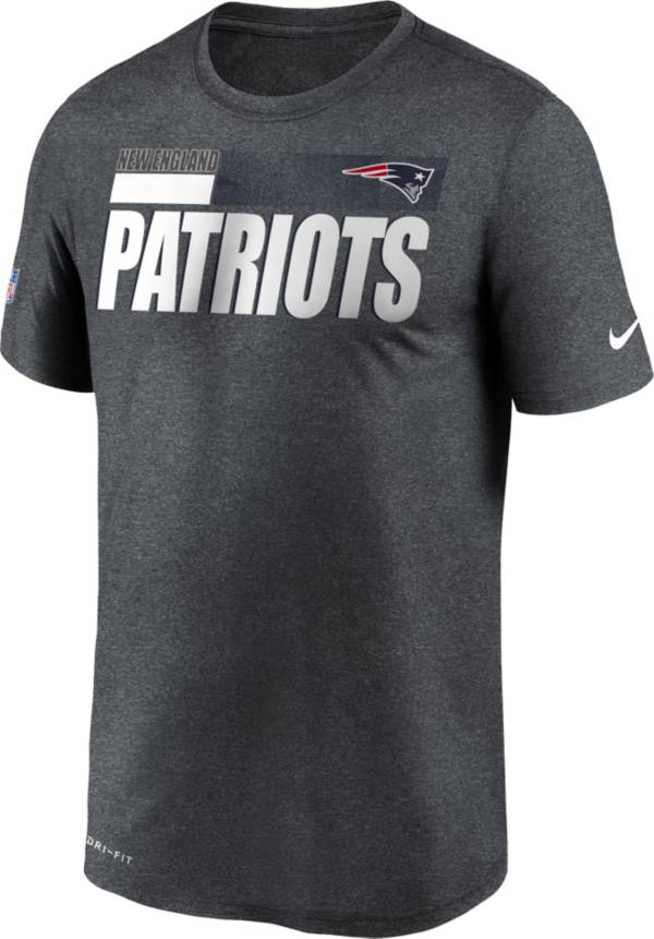 Nike Men's New England Patriots Charcoal Heather Legend Sideline T-Shirt product image