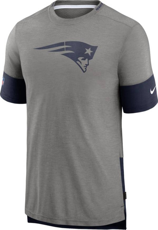 Nike Men's New England Patriots Grey Sideline Player T-Shirt product image
