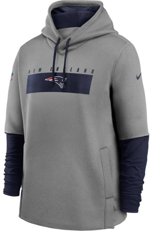 Nike Men's New England Patriots Sideline Therma-FIT Heavy Grey Hoodie product image