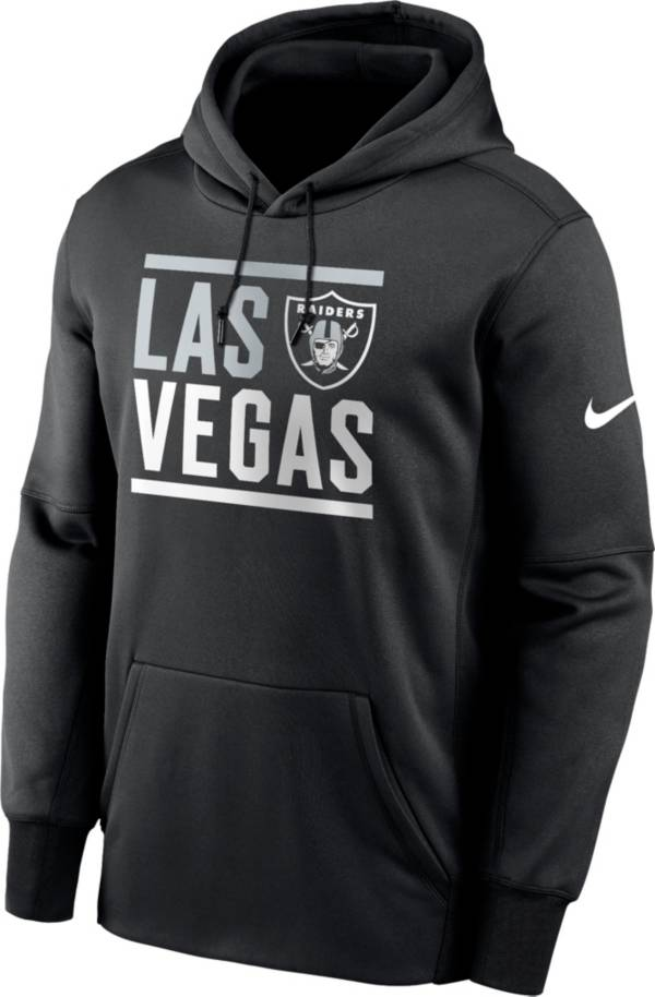Nike Men's Las Vegas Raiders Therma-FIT Black Pullover Hoodie product image