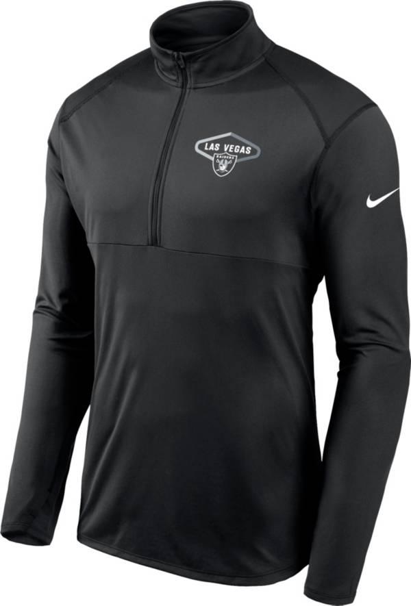 Nike Men's Las Vegas Raiders Element Half-Zip Black Pullover product image