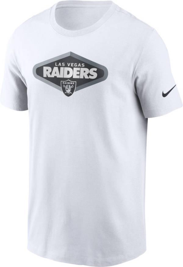 Nike Men's Las Vegas Raiders Signage White T-Shirt product image