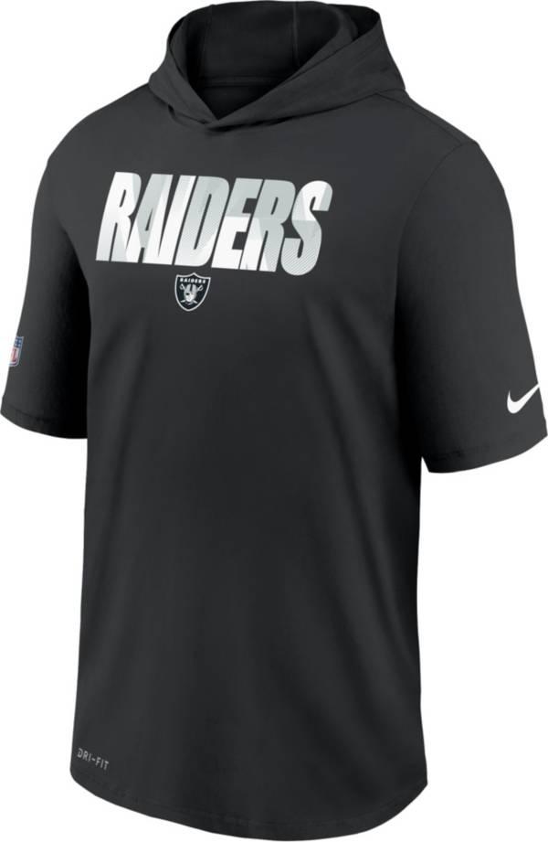 Nike Men's Las Vegas Raiders Black Short Sleeve Dri-FIT Training Hoodie product image