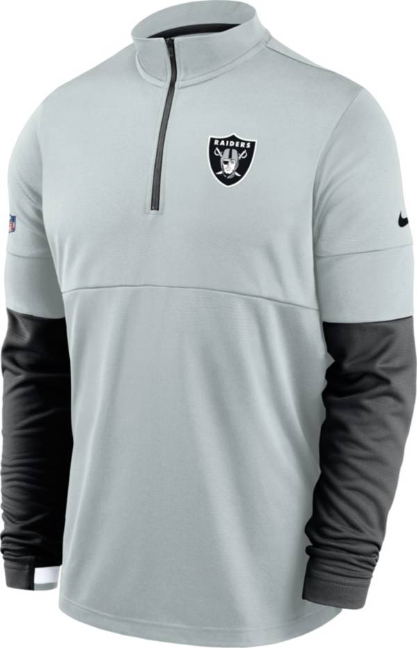 Nike Men's Las Vegas Raiders Sideline Coach Performance Silver Half-Zip Pullover product image