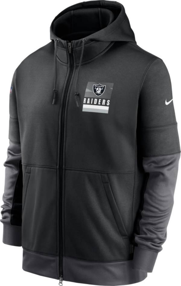 Nike Men's Las Vegas Raiders Sideline Lock Up Full-Zip Black Hoodie product image