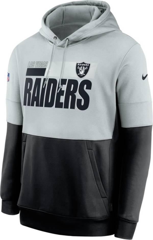 Nike Men's Las Vegas Raiders Sideline Lock Up Pullover Silver Hoodie product image
