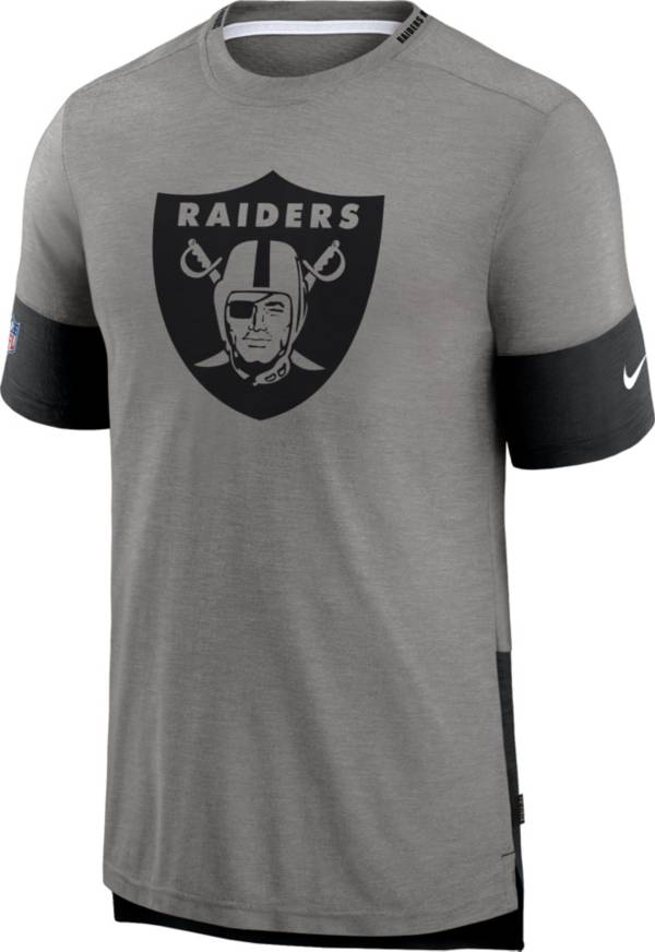 Nike Men's Las Vegas Raiders Grey Sideline Player T-Shirt product image