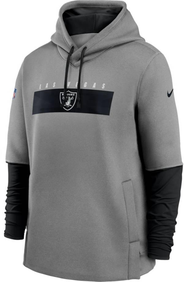 Nike Men's Las Vegas Raiders Grey Sideline Therma-FIT Heavy Hoodie product image