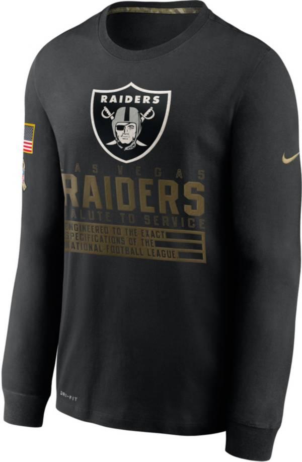 Nike Men's Salute to Service Las Vegas Raiders Black Long Sleeve Shirt product image