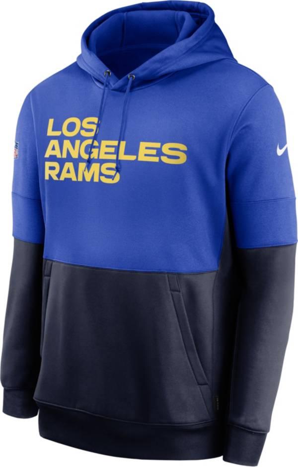 Nike Men's Los Angeles Rams Sideline Lock Up Pullover Hoodie product image
