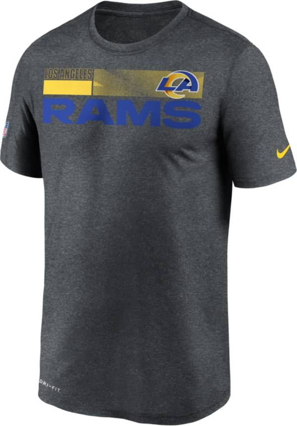 Nike Men's Los Angeles Rams Legend Performance Charcoal T-Shirt product image