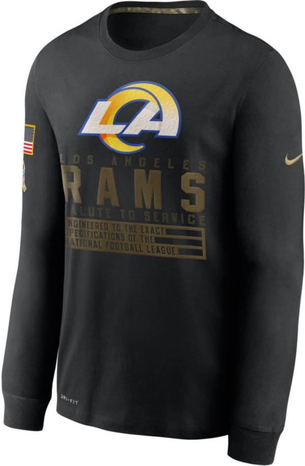 Nike Men's Salute to Service Los Angeles Rams Black Long Sleeve Shirt product image