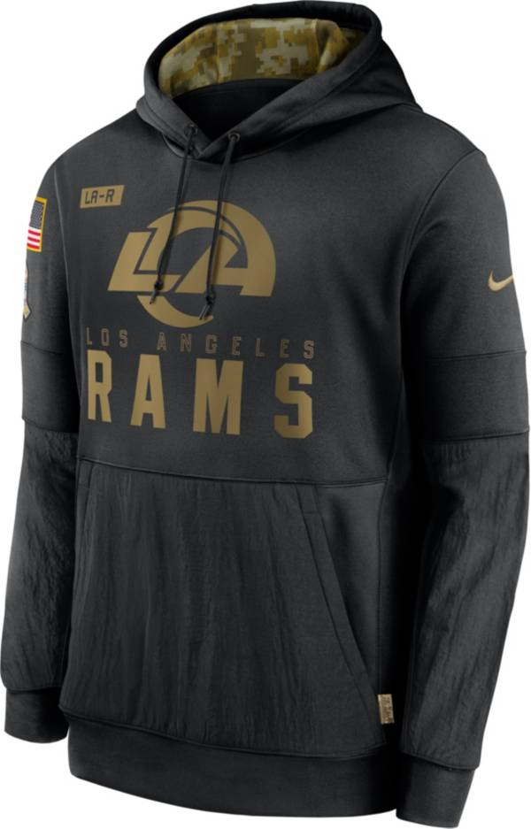 Nike Men's Salute to Service Los Angeles Rams Black Therma-FIT Pullover Hoodie product image