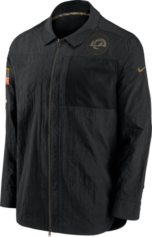 Nike Men's Salute to Service Los Angeles Rams Black Shirt Jacket product image