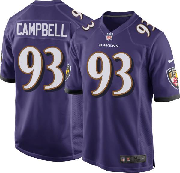 Nike Men's Baltimore Ravens Calais Campbell #93 Home Purple Game Jersey product image