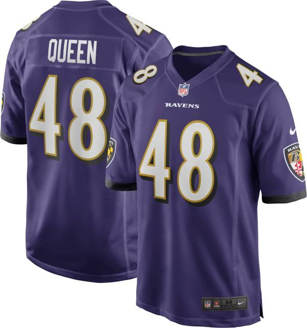 Nike Men's Baltimore Ravens Patrick Queen #48 Purple Game Jersey product image