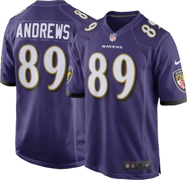 Nike Men's Baltimore Ravens Mark Andrews #89 Purple Game Jersey