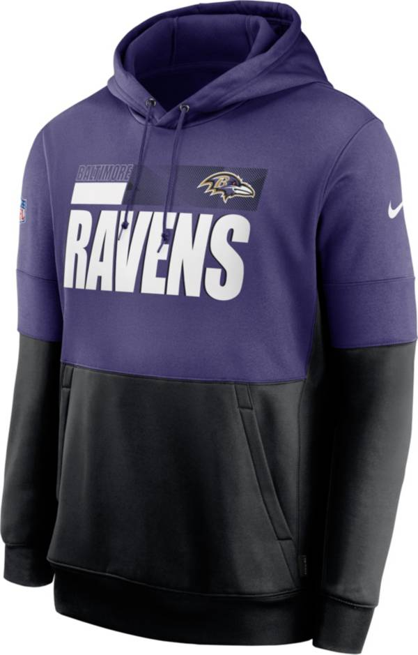 Nike Men's Baltimore Ravens Sideline Lock Up Pullover Purple Hoodie product image