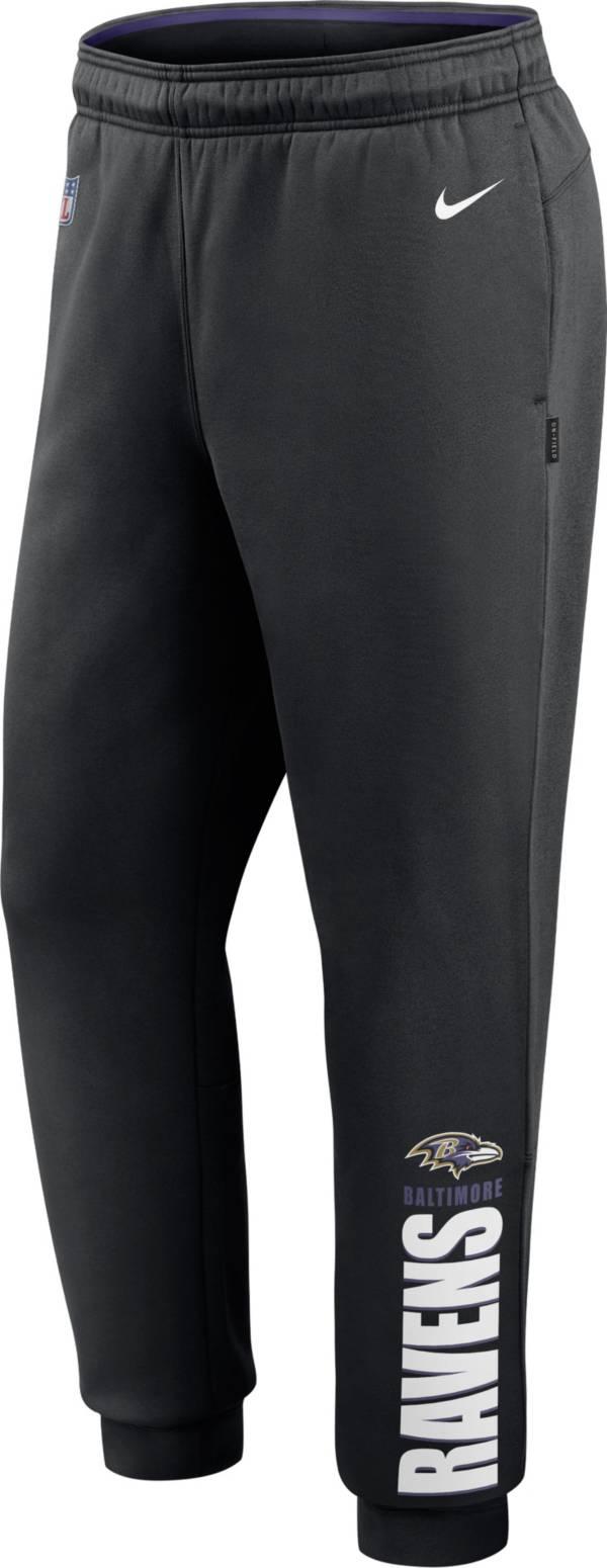 Nike Men's Baltimore Ravens Sideline Therma-FIT Performance Black Pants product image