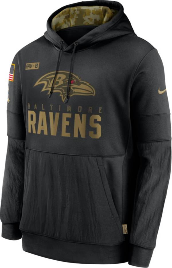 Nike Men's Salute to Service Baltimore Ravens Black Therma-FIT Pullover Hoodie product image