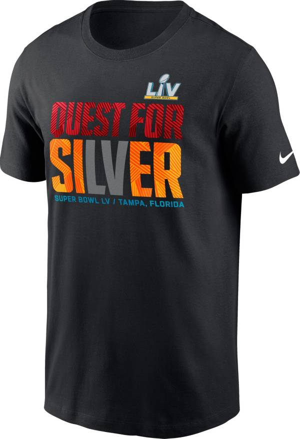 Nike Men's Super Bowl LV Quest For Silver Black T-Shirt product image