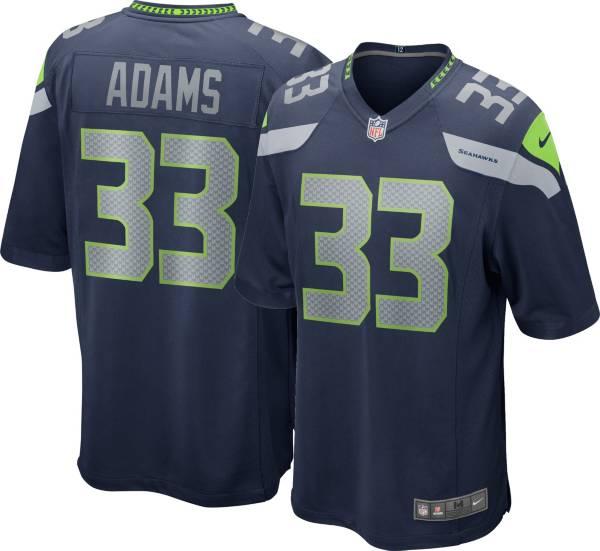 Nike Men's Seattle Seahawks Jamal Adams #33 Navy Game Jersey