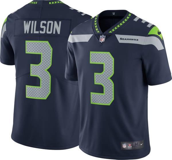 Nike Men's Seattle Seahawks Russell Wilson #3 Navy Limited Jersey