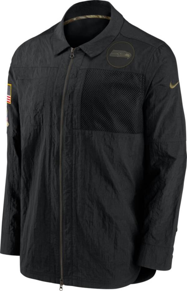 Nike Men's Salute to Service Seattle Seahawks Black Shirt Jacket product image