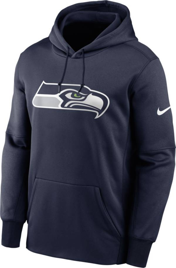 Nike Men's Seattle Seahawks Sideline Therma-FIT Navy Pullover Hoodie product image