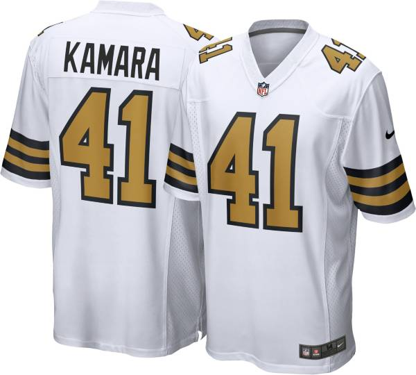 Nike Men's New Orleans Saints Alvin Kamara #41 White Game Jersey product image