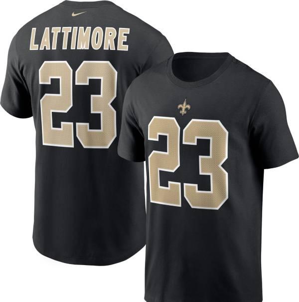 Nike Men's New Orleans Saints Marshon Lattimore #23 Legend Black T-Shirt product image