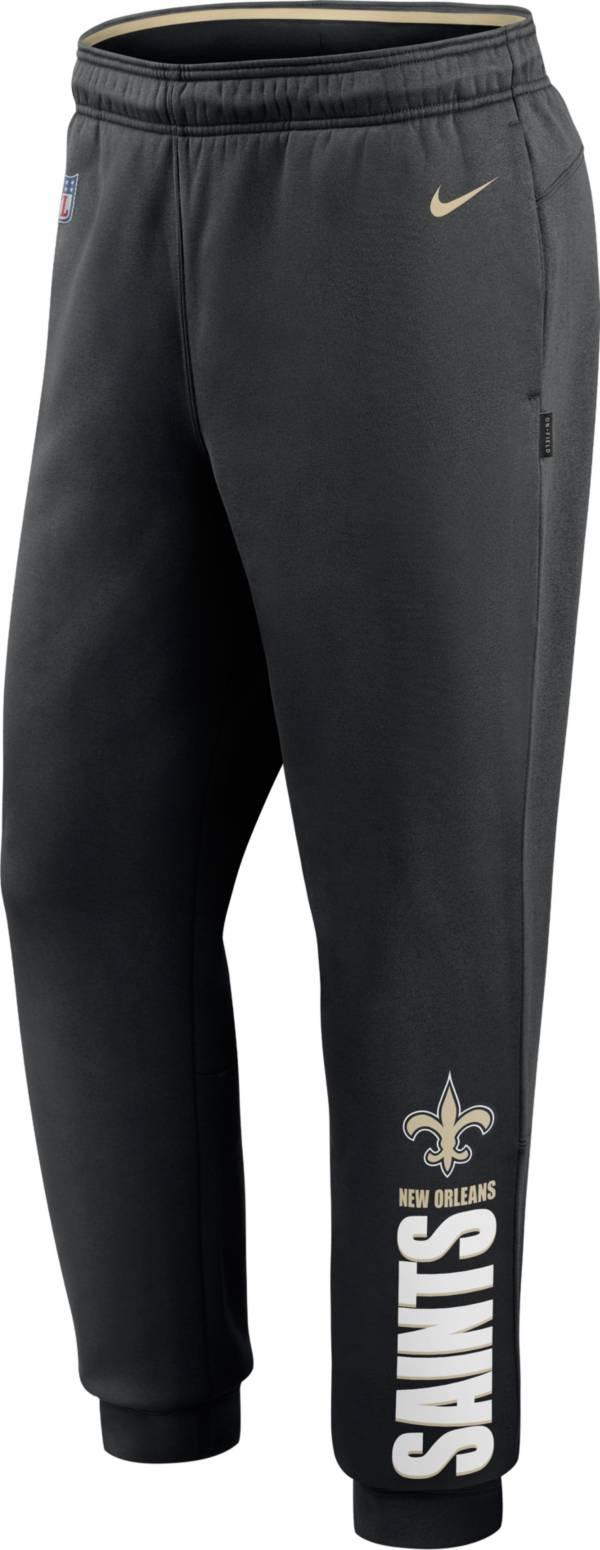 Nike Men's New Orleans Saints Sideline Therma-FIT Performance Black Pants product image