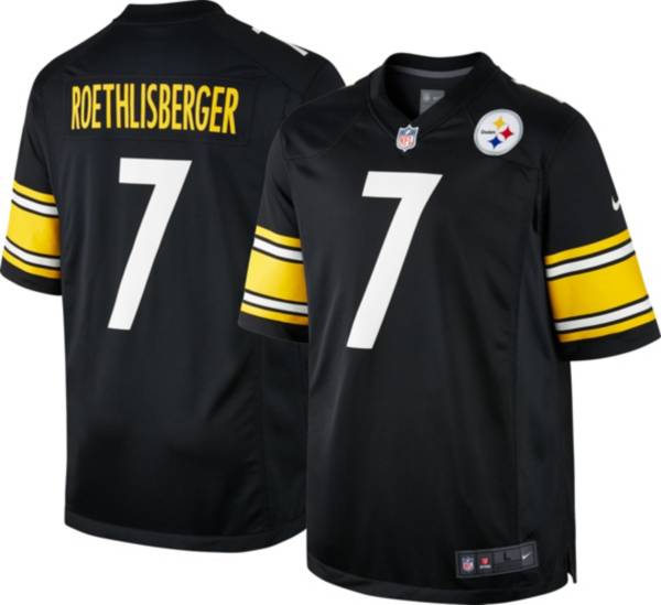 Nike Men's Pittsburgh Steelers Ben Roethlisberger #7 Black Game Jersey product image