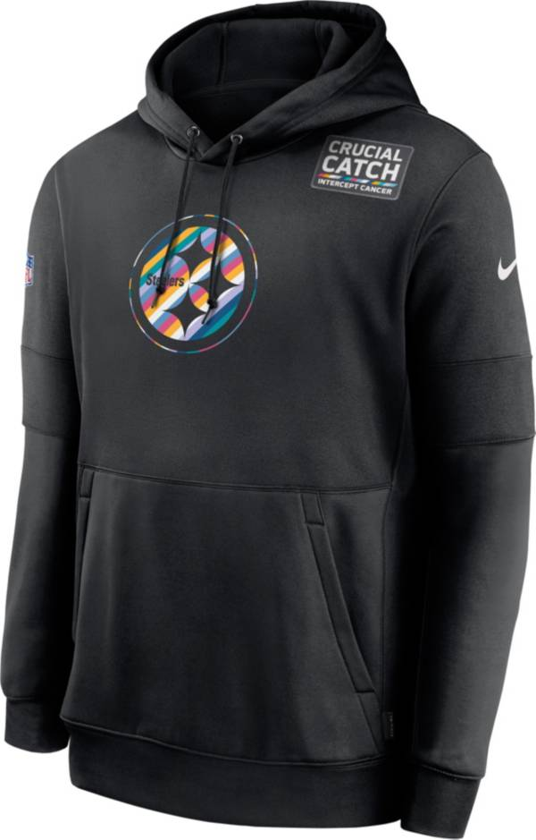 Nike Men's Pittsburgh Steelers Crucial Catch Logo Black Hoodie product image