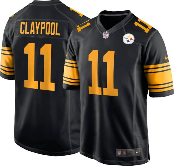 Nike Men's Pittsburgh Steelers Chase Claypool #11 Alternate Black Game Jersey product image