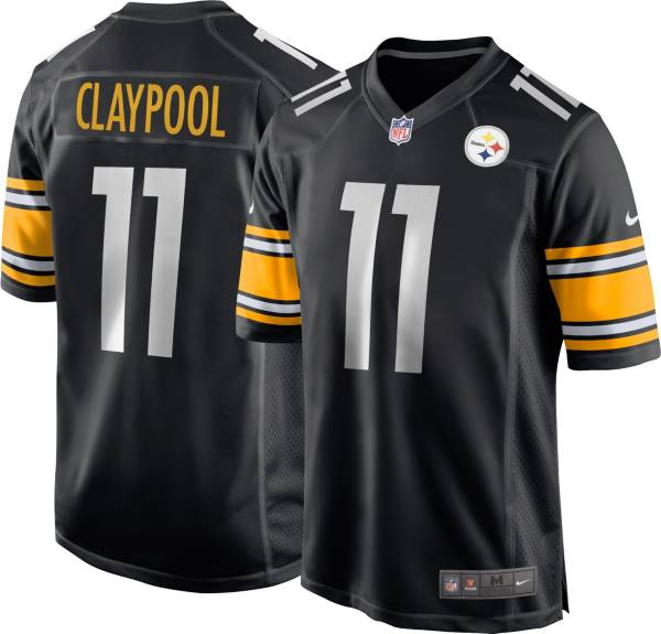 Nike Men's Pittsburgh Steelers Chase Claypool #11 Black Game Jersey product image