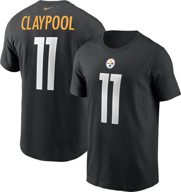Nike Men's Pittsburgh Steelers Chase Claypool #11 Legend Black T-Shirt product image