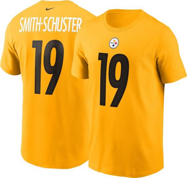 Nike Men's Pittsburgh Steelers JuJu Smith-Schuster #19 Logo Gold T-Shirt product image