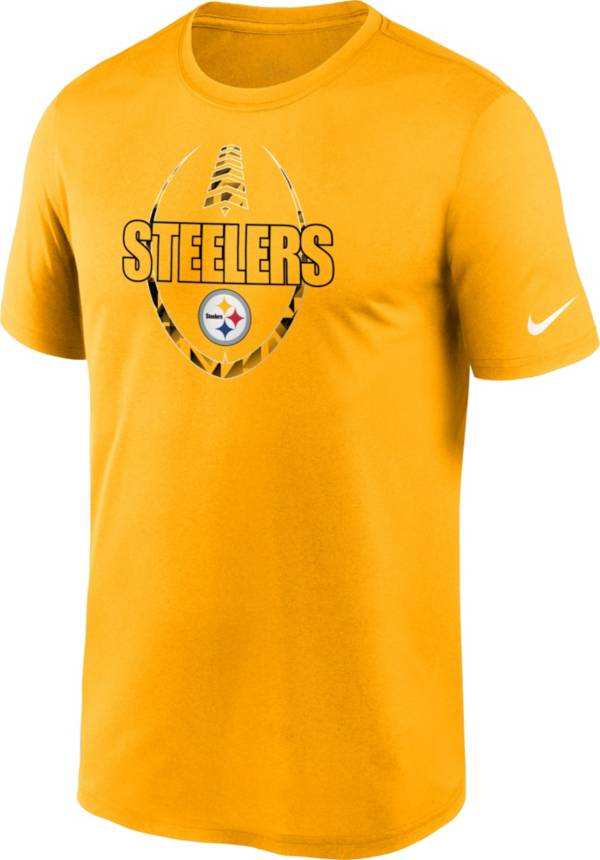 Nike Men's Pittsburgh Steelers Legend Icon Gold T-Shirt product image