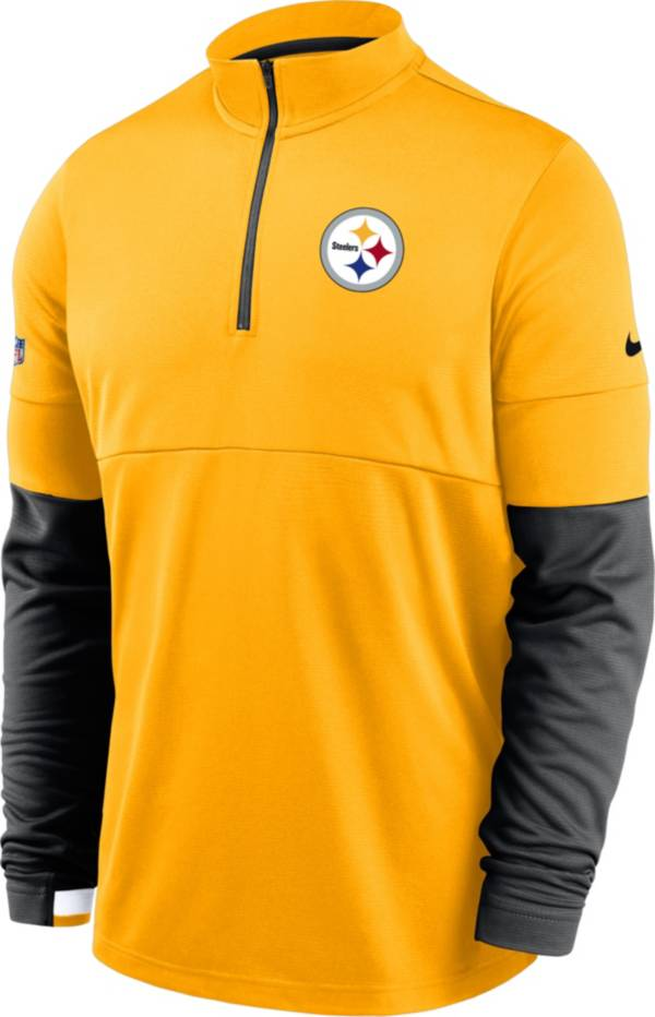 Nike Men's Pittsburgh Steelers Sideline Coach Performance Gold Half-Zip Pullover product image