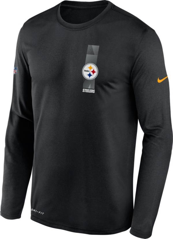 Nike Men's Pittsburgh Steelers Sideline Legend Travel Black Long Sleeve Shirt product image
