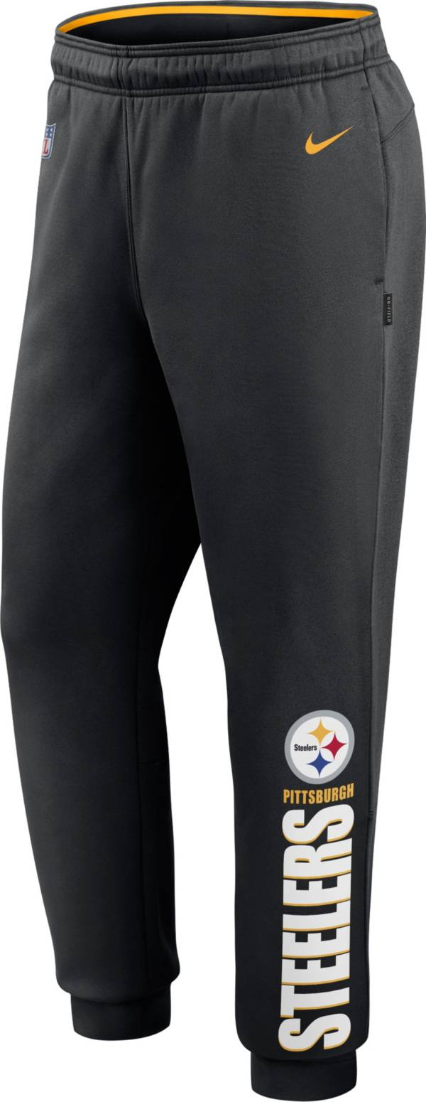 Nike Men's Pittsburgh Steelers Sideline Therma-FIT Performance Black Pants product image