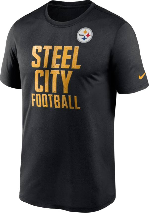 Nike Men's Pittsburgh Steelers Steel City Legend Logo Black T-Shirt product image