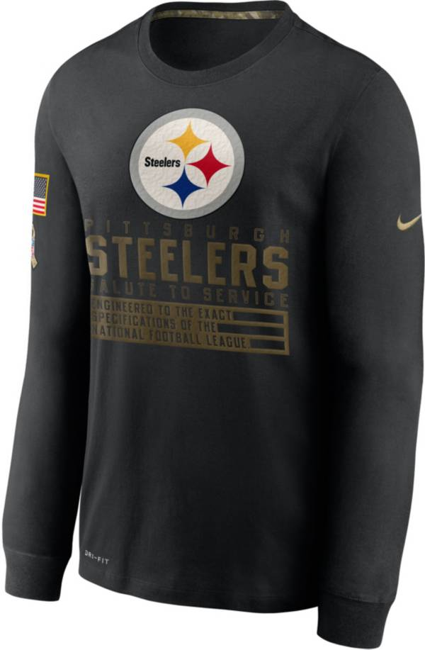 Nike Men's Salute to Service Pittsburgh Steelers Black Long Sleeve Shirt product image