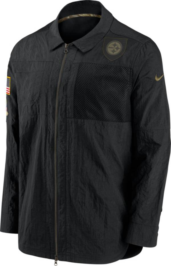 Nike Men's Salute to Service Pittsburgh Steelers Black Shirt Jacket product image
