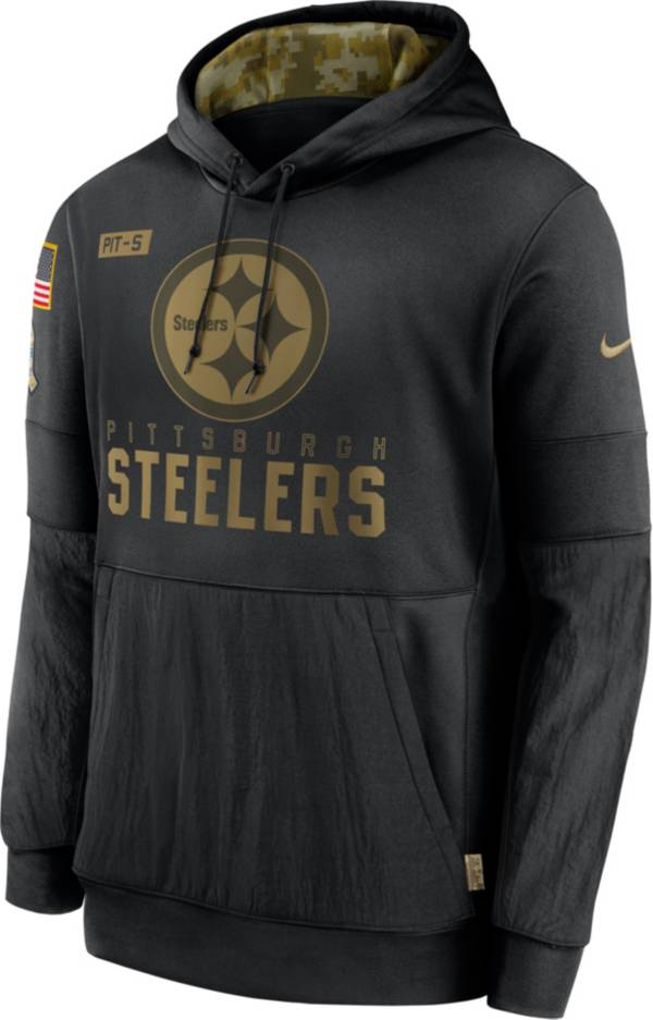Nike Men's Salute to Service Pittsburgh Steelers Black Therma-FIT Pullover Hoodie product image
