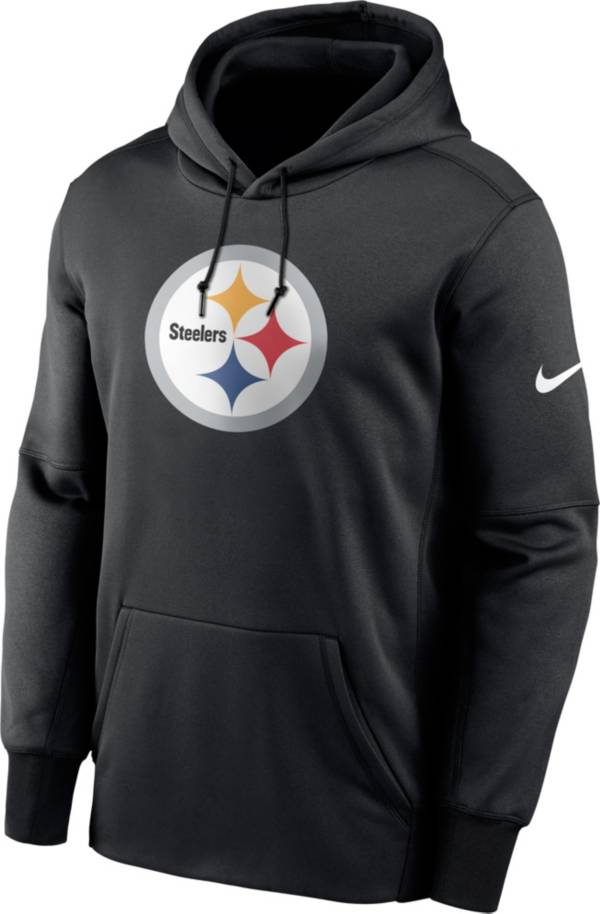 Nike Men's Pittsburgh Steelers Sideline Therma-FIT Black Pullover Hoodie product image